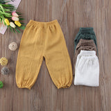 Vintage Boho Wrinkled Cotton Long Pants