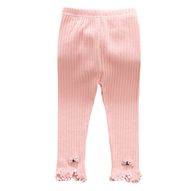 Little Skinny Bow Knit Leggings