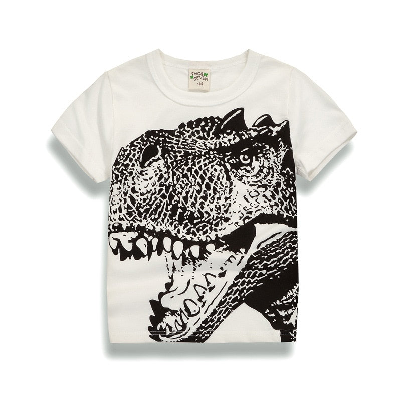 Mighty Dinosaur Casual Cotton T-Shirt