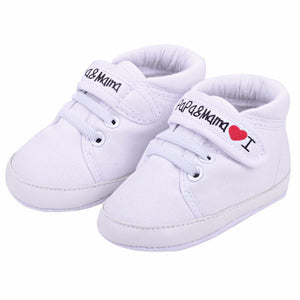 Papa & Mama Love Strap On Canvas Sneakers