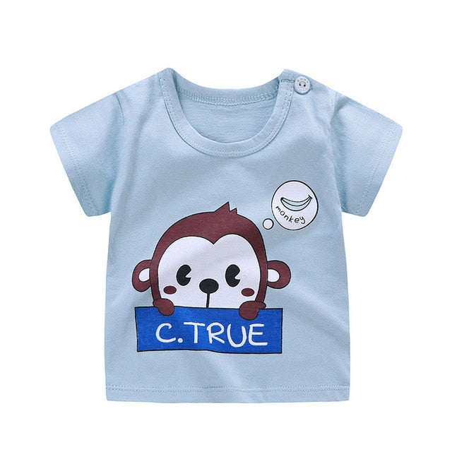 Little Monkey Soft Casual Cotton T-Shirt - Tops - baby-petite