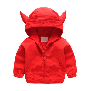 Little Red Devil Corduroy Hoodie Jacket