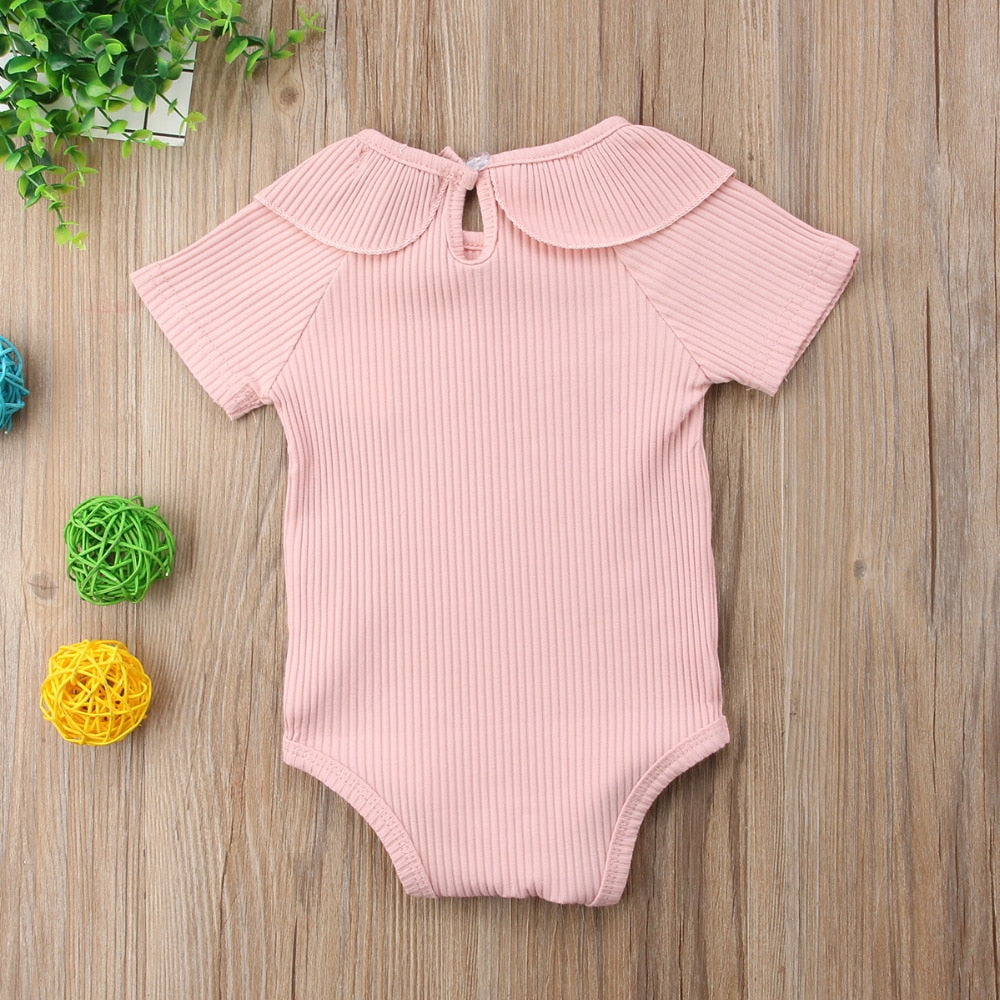 Basic Peter Pan Collar Cotton Romper - Kids Petite - Baby & Kids Clothing