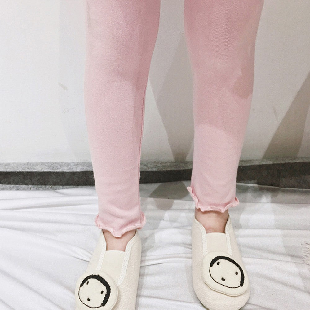 Candy Color Drawstring Cotton Leggings