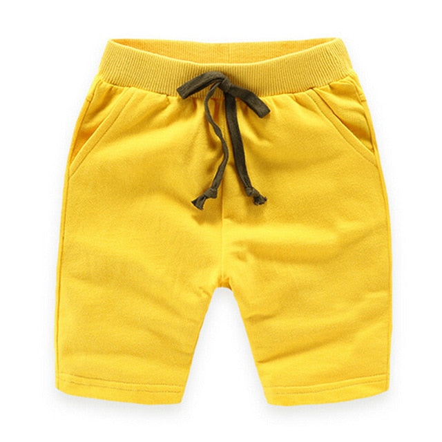 Basic Solid Casual Cotton Draw String Jogger Pants - Shorts - baby-petite