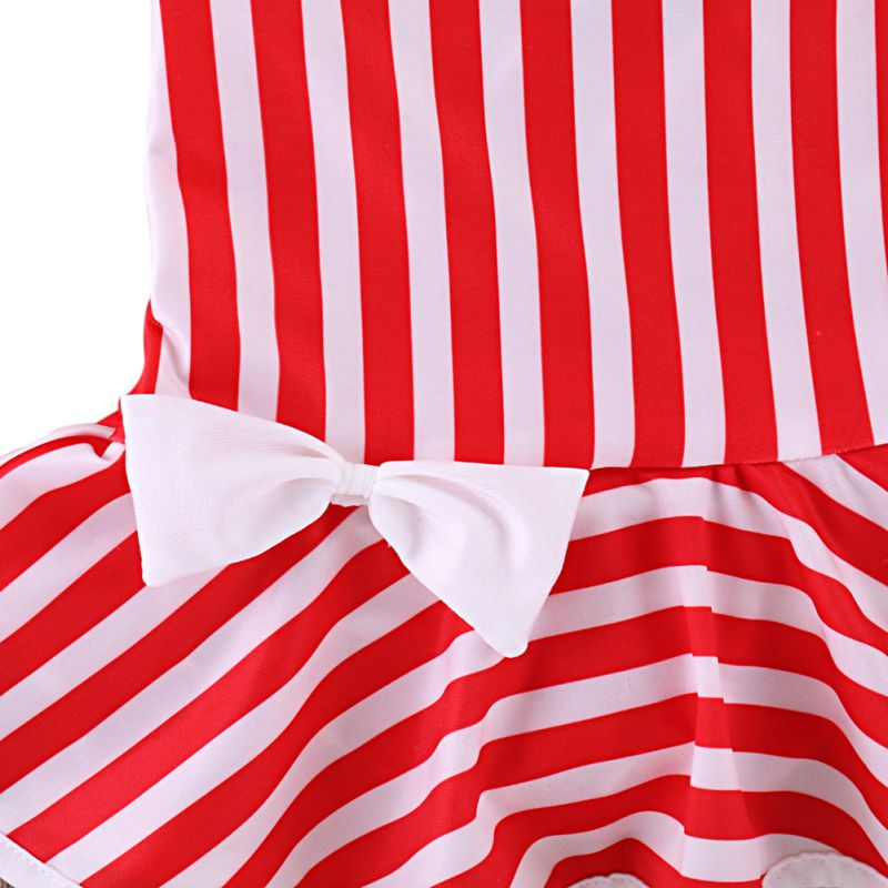 Karla Halter Neck Striped Swimsuit - Swimsuits - baby-petite
