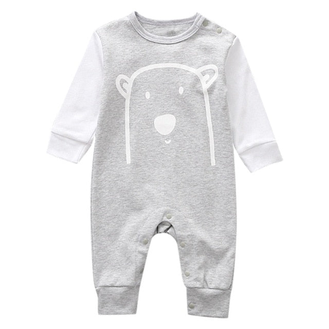 The Curious Trios Long Sleeve Romper - Rompers - baby-petite