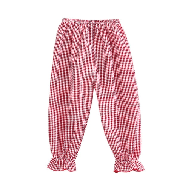 Mini Plaid Summer Harem Pants