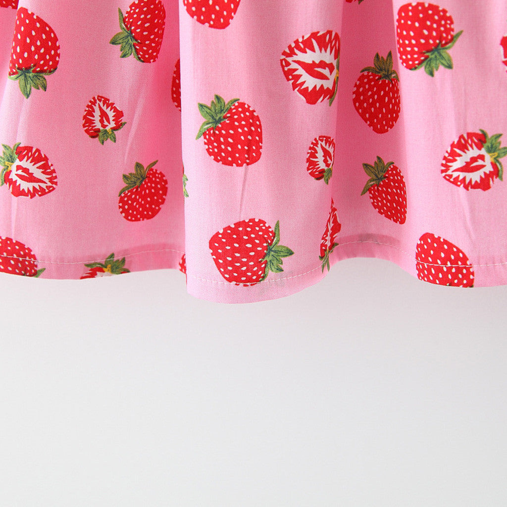 Fruitylicious Summer Dress With Matching Hat