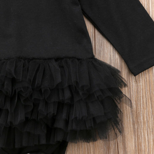 The Black Swan Tulle Romper With Matching Headband - Rompers - baby-petite