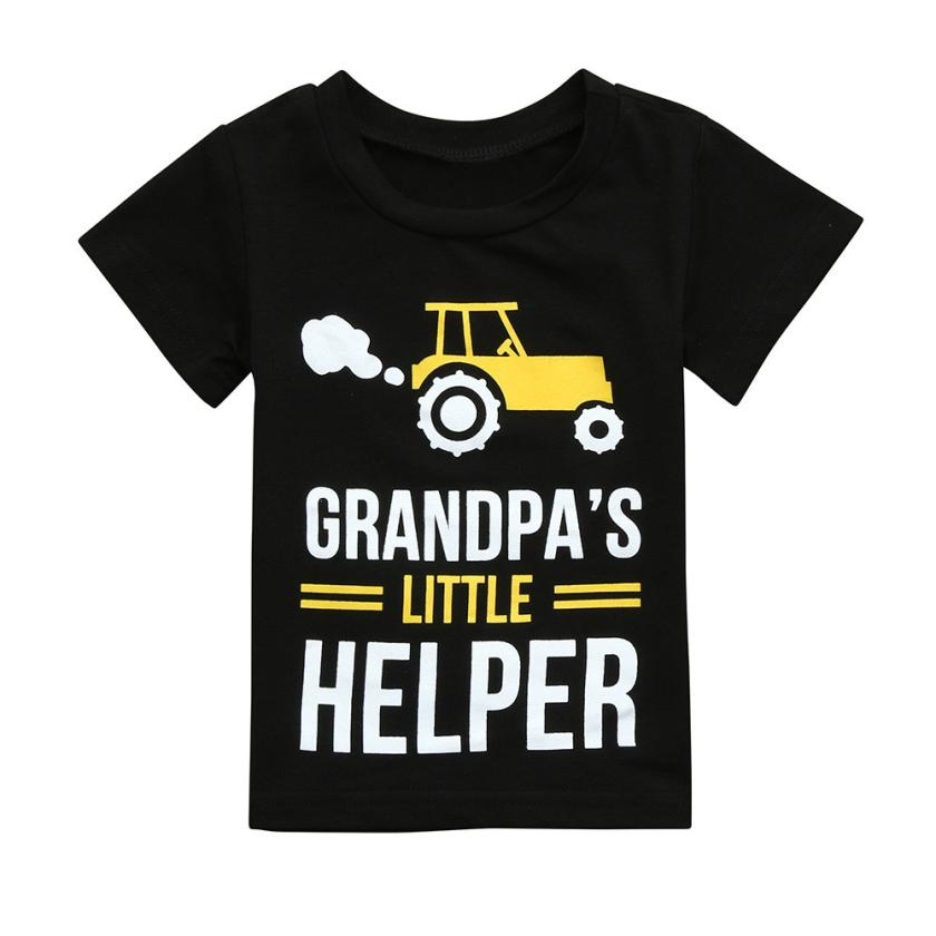 Grandpa's Little Helper Casual Cotton T-Shirt