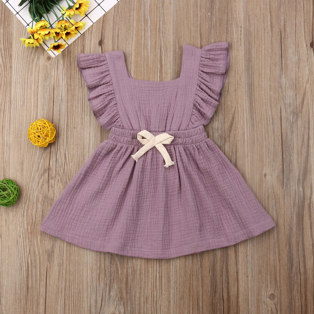 Isabella Lilac Ruffle Drawstring Dress