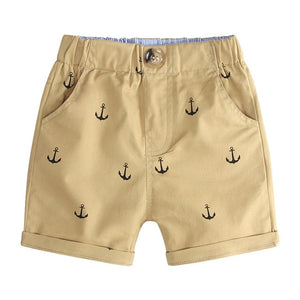 Sailor Anchor Summer Button Shorts - Shorts - baby-petite