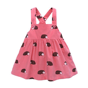 Little Hedgehog Cross Back Pink Dress