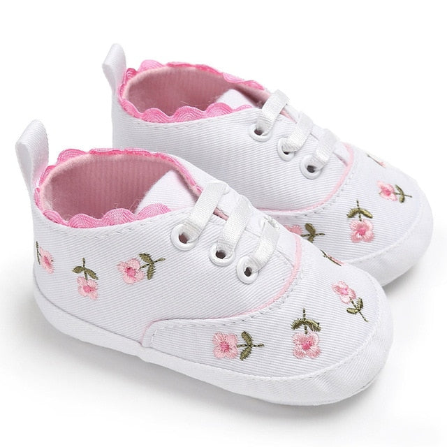 Blossoming Flower Lace Up Shoes
