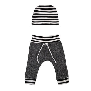Streetin' Striped Leggings With Matching Headband
