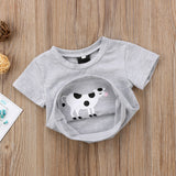 Ask Me About My Moo Cow Cotton T-Shirt - Tops - baby-petite