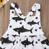 Swimmin' With Sharks Cross Back Dress