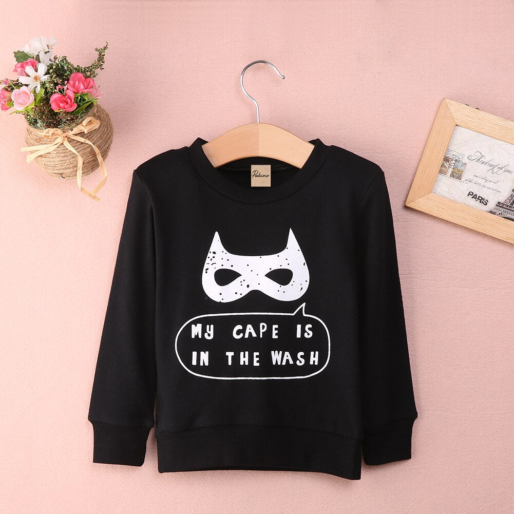 My Cape Is In The Wash Statement Print Long Sleeve T-Shirt - Tops - baby-petite