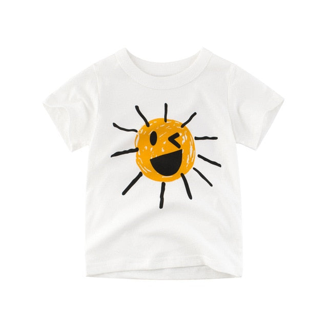 Sun's Out Casual Cotton T-Shirt - Tops - baby-petite