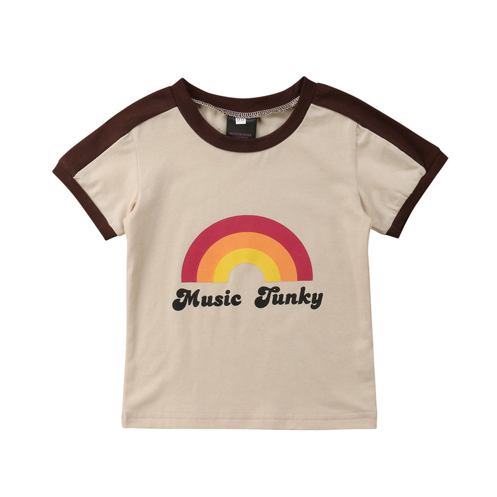 Retro Music Funky Statement Rainbow T-Shirt - Tops - baby-petite