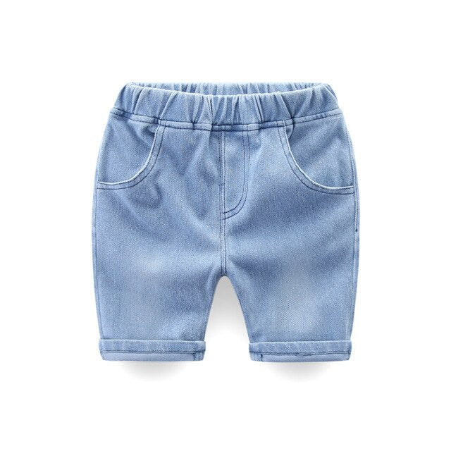 Hold Up Roll Up Stretchable Denim Pants - Shorts - baby-petite