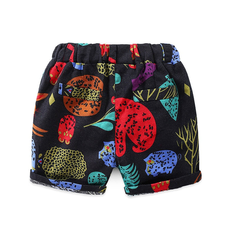 Tropical Abstract Knee Length Summer Short Pants - Shorts - baby-petite