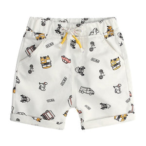 Little Car Print Draw String Loose Shorts - Shorts - baby-petite
