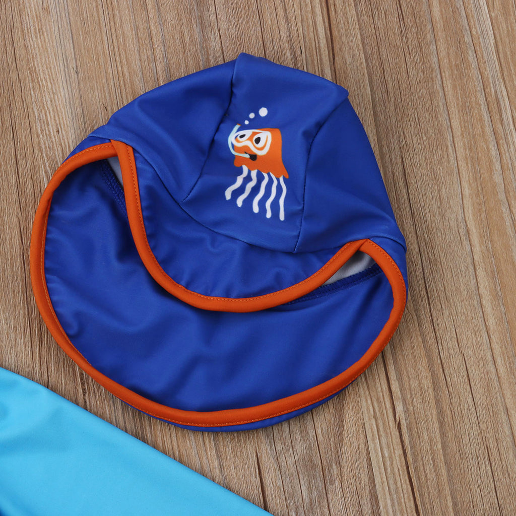 Two Piece Jellyfish Swimming Suit With Matching Hat