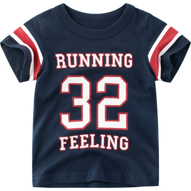 Running Feeling 32 Cotton T-Shirt - Tops - baby-petite