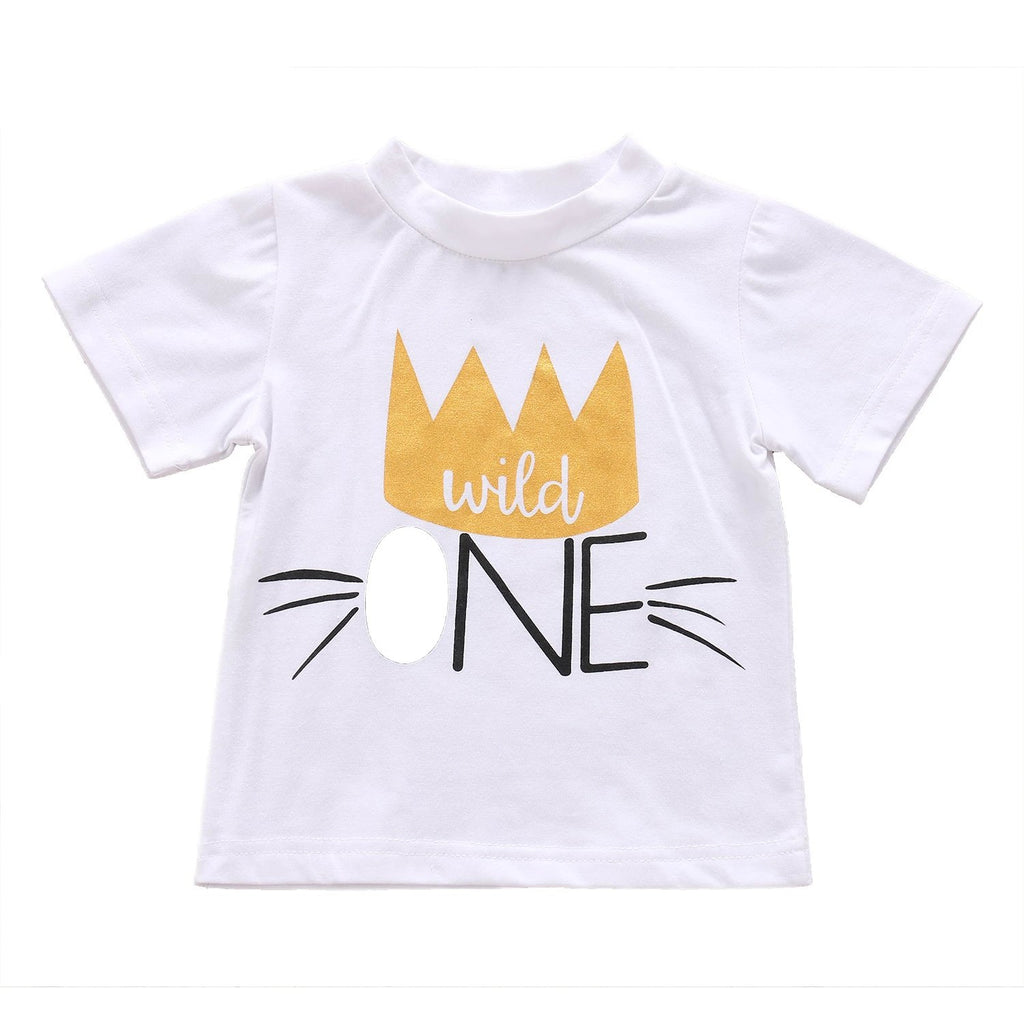 Wild One Cotton T-Shirt - Tops - baby-petite