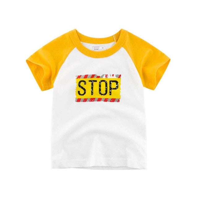 Drop & Stop Casual Cotton T-Shirt - Tops - baby-petite