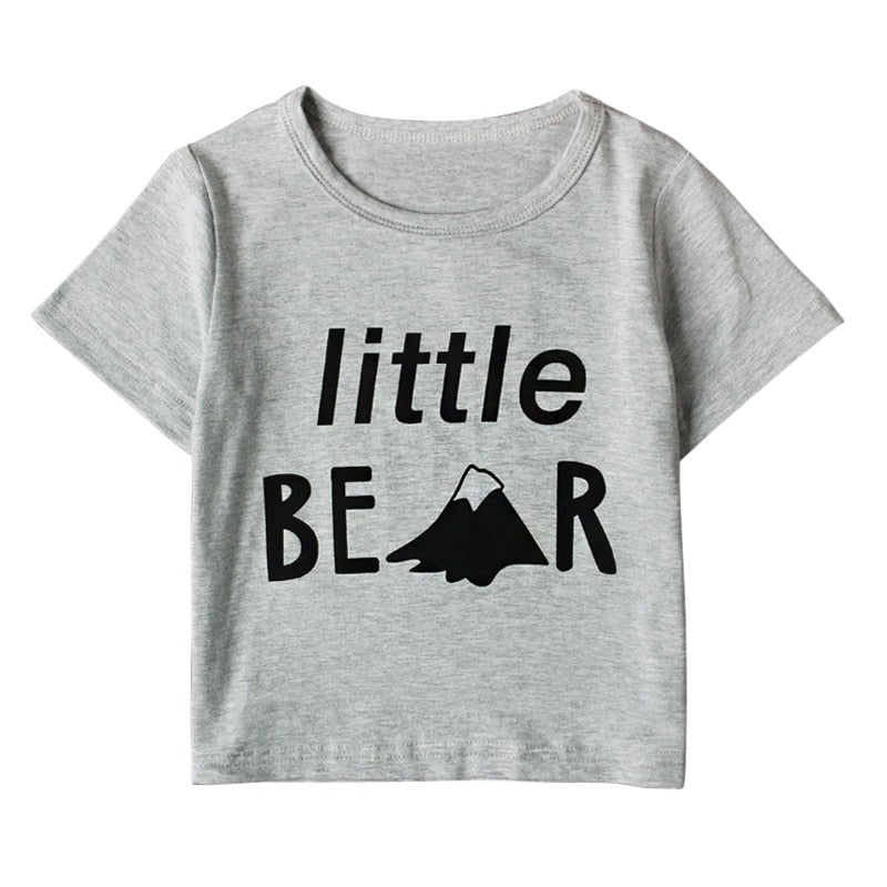 Little Bear Casual Cotton T-Shirt - Tops - baby-petite