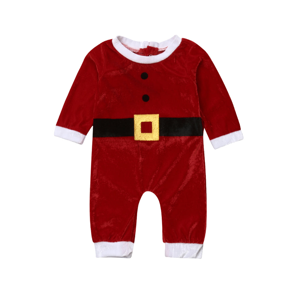 Your Only Mr Claus Velvet Romper - Tops - baby-petite