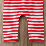Explore Winter Striped Hooded Romper - Tops - baby-petite