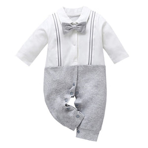 The Silver Gentlemen Overall Romper
