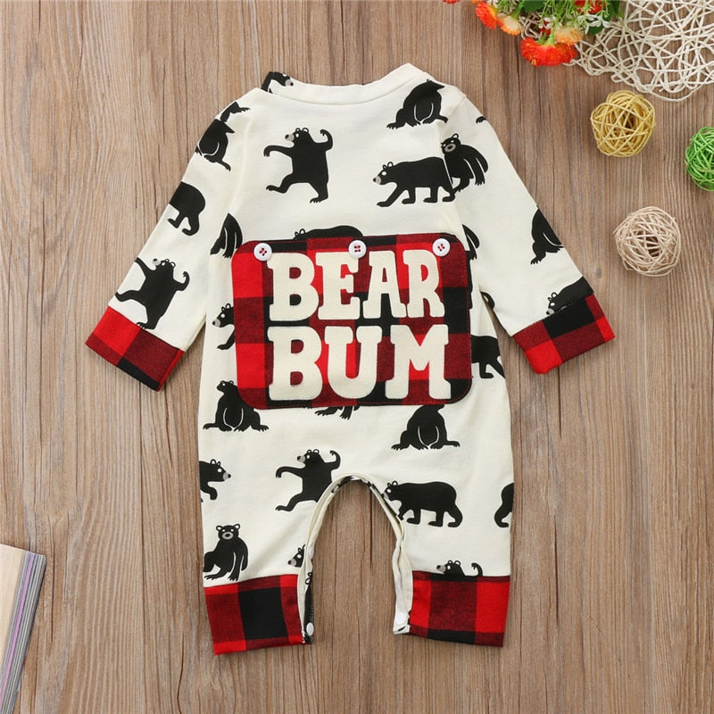 The Bear Bum Plaid Romper