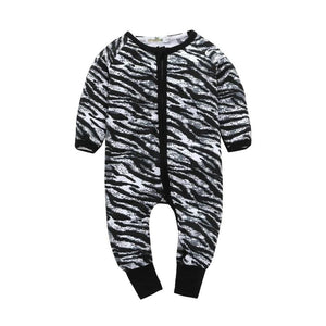 Chic Zebra Zipper Pajamas