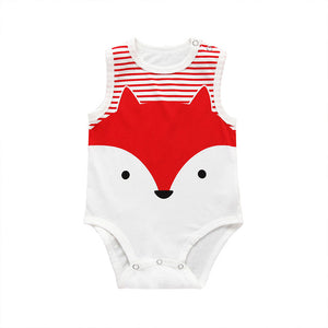 The Summer Baby Animals Sleeveless Romper