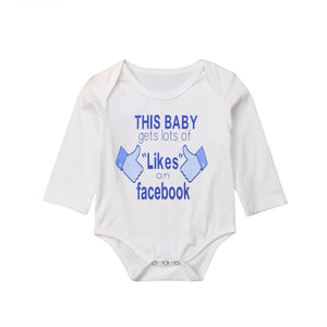 This Baby Gets Lots Of Likes Long Sleeve Romper