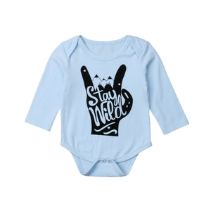 Stay Wild Rock Star Long Sleeve Romper