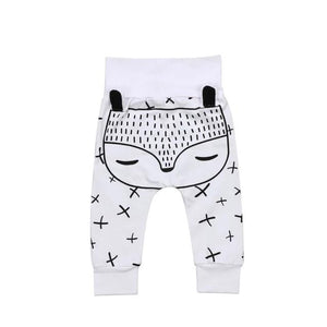 Little Animal Ear Criss Cross Warm Leggings
