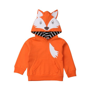 Little Foxy Roxy Hooded Pocket Sweater