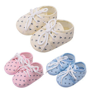 Little Paw Paw Lace Up Soft Cotton Sneakers
