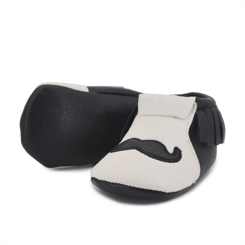 Mr Mustache Fringe Leather Soft Sole Shoes