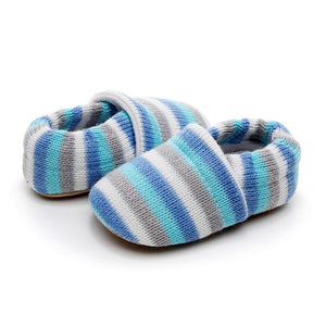 Magic Rainbow Striped Soft Cotton Slip On Loafers