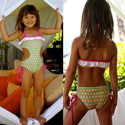 Strawberry Plum Cutout Strappy Swimsuit - Swimsuits - baby-petite