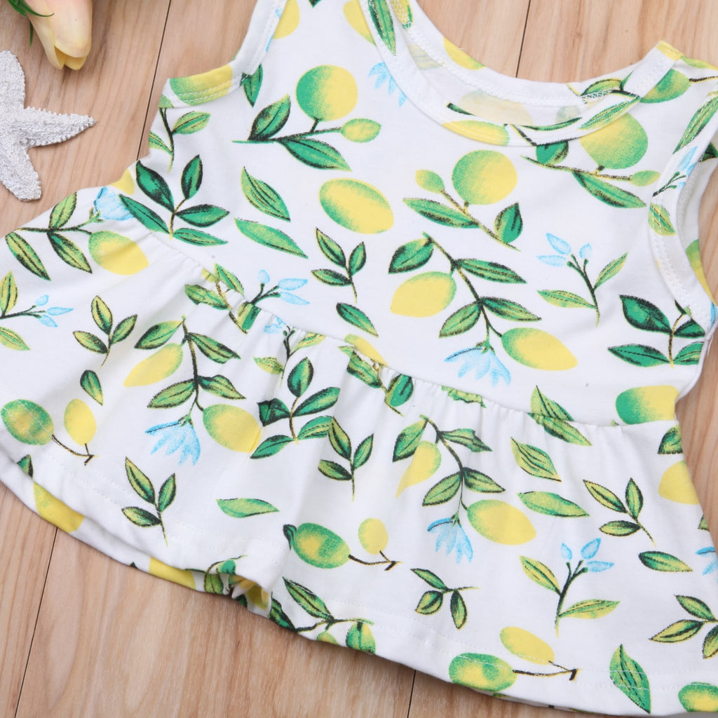 Summer Lemon Peplum Top