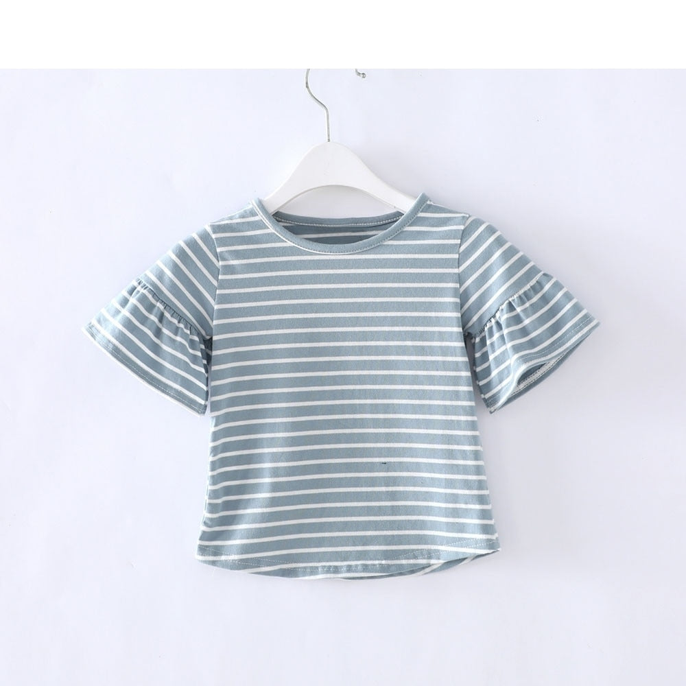 The Striped Club Bell Sleeve Blouse Top