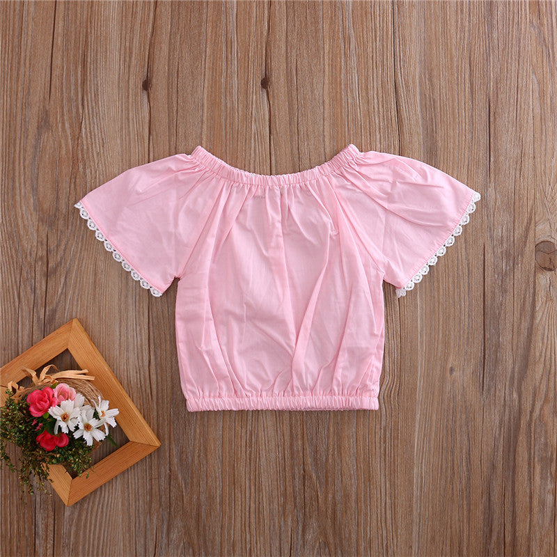Sweet Summer Pink Lace Blouse Top